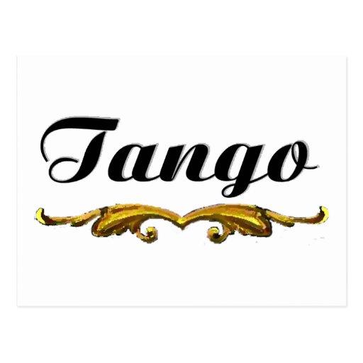 ¡Diseño original del tango! ¡Arte tradicional del  Tarjeta Postal
