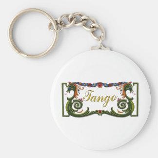 ¡Diseño original del tango! Llavero Redondo Tipo Pin