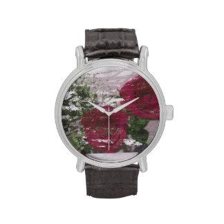 Diseño original grunged del rosa rojo