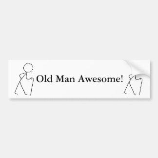 Diseño original impresionante del viejo hombre etiqueta de parachoque