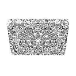 Diseño ornamental circular del cordón impresión en lienzo estirada