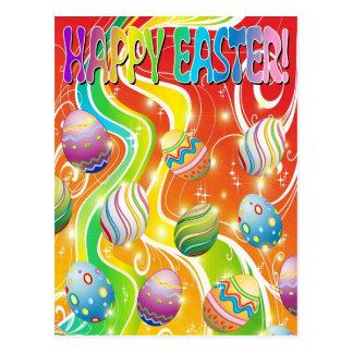 Diseño ornamental de los huevos de Pascua Postales