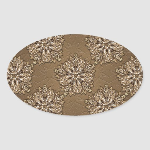 Diseño ornamental decorativo calcomania oval
