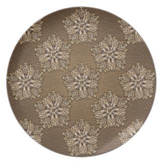 Diseño ornamental decorativo platos para fiestas