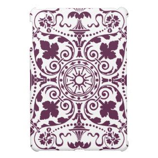 diseño ornamental del damasco púrpura