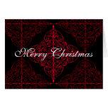 Diseño ornamental del navidad gótico elegante tarjetas