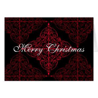 Diseño ornamental del navidad gótico elegante tarjeta de felicitación