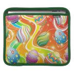 Diseño ornamental feliz de los huevos de Pascua Funda Para iPads