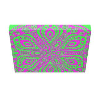 Diseño ornamental rosado del cordón lienzo envuelto para galerías