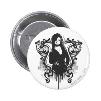 Diseño oscuro de los artes de Bellatrix Lestrange Pin