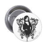 Diseño oscuro de los artes de Bellatrix Lestrange Pin Redondo 5 Cm