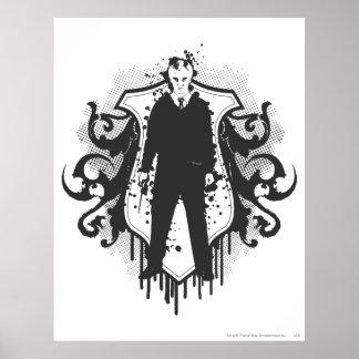 Diseño oscuro de los artes de Malfoy del Draco Poster