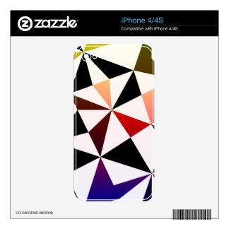 Diseño oscuro del triángulo del arco iris skins para iPhone 4S