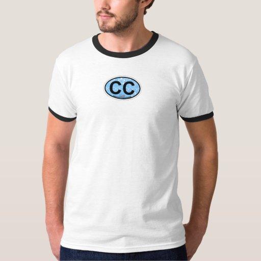 Diseño oval de Cape Cod Playera