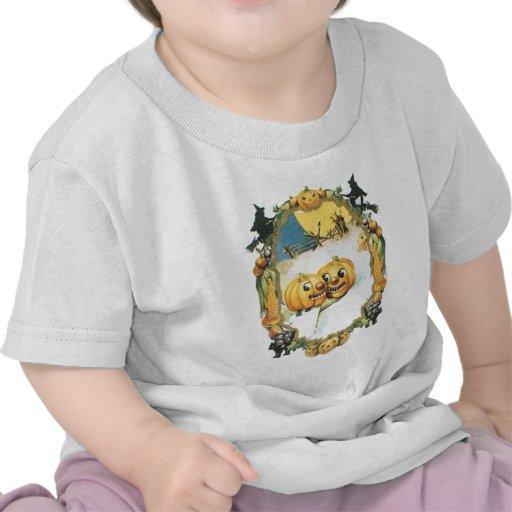 Diseño oval de la calabaza del vintage camisetas