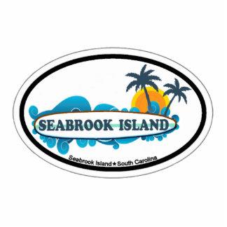 Diseño oval de la isla de Seabrook Escultura Fotografica
