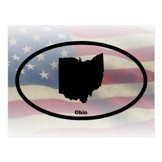 Diseño oval de la silueta de Ohio Postales