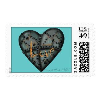 Diseño oxidado del sello del arte gráfico del amor