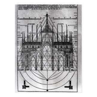 Diseño para la catedral de Milano Postales