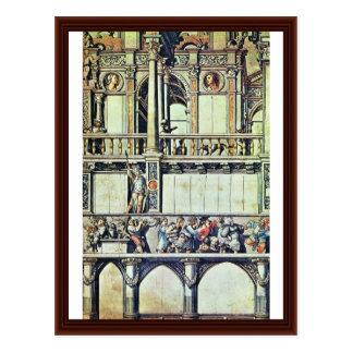 Diseño para la decoración de la fachada de la casa tarjetas postales