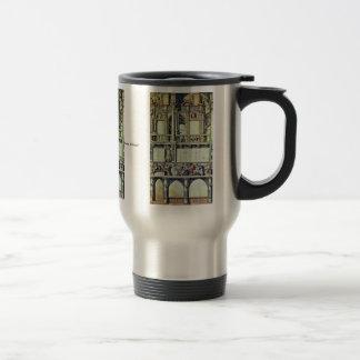 Diseño para la decoración de la fachada de la casa taza de café