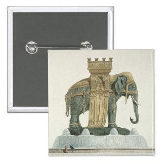 Diseño para la fuente del elefante pin cuadrada 5 cm