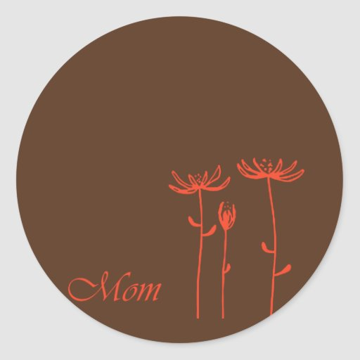 Diseño para la mamá pegatinas redondas