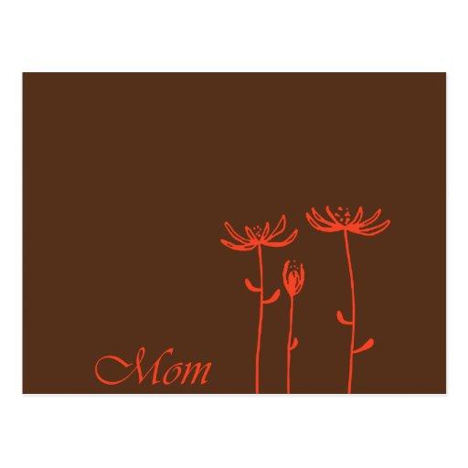 Diseño para la mamá tarjeta postal