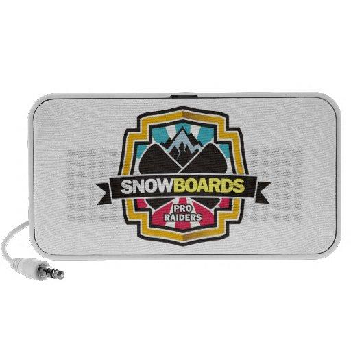 Diseño para la snowboard del asaltante entrenado p iPod altavoces