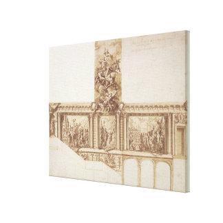 Diseño para las paredes y la escalera (pluma del t impresión en lona estirada
