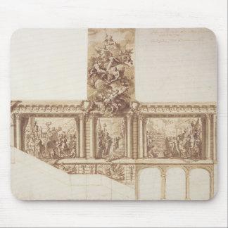 Diseño para las paredes y la escalera (pluma del t tapete de ratones