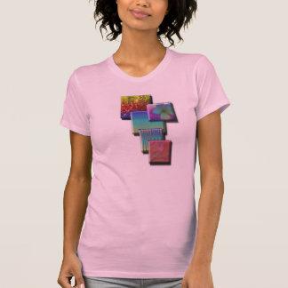 Diseño para mujer de la camisa de los cuadrados