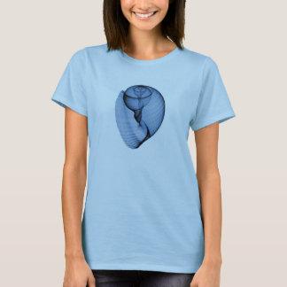 Diseño para mujer de la camisa del seashell