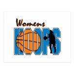 diseño para mujer del baloncesto de los aros postal