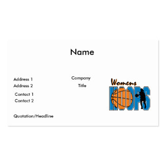 diseño para mujer del baloncesto de los aros tarjetas de visita