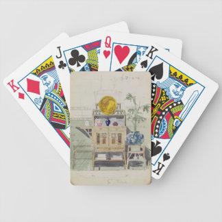 Diseño para un aparador, c.1860s-70s (w/c y lápiz barajas de cartas