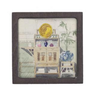 Diseño para un aparador, c.1860s-70s (w/c y lápiz cajas de joyas de calidad