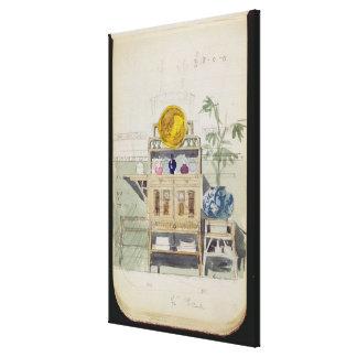 Diseño para un aparador, c.1860s-70s (w/c y lápiz lona estirada galerias