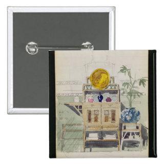 Diseño para un aparador, c.1860s-70s (w/c y lápiz pin cuadrado