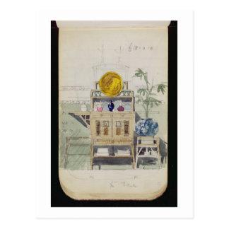 Diseño para un aparador, c.1860s-70s (w/c y lápiz tarjetas postales