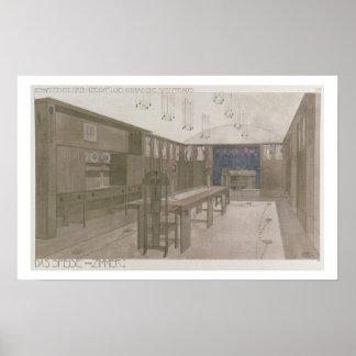 Diseño para un comedor 1901 litho del color impresiones