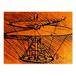 Diseño para un helicóptero tarjetas postales