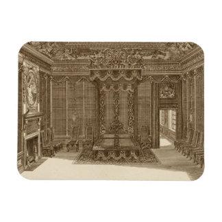 Diseño para una alcoba con una cama del estado de iman rectangular