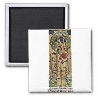 Diseño para una decoración de la pared imán cuadrado