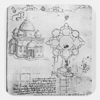 Diseño para una iglesia, fol. 4r pegatina cuadrada