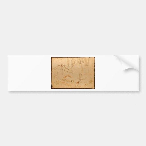 Diseño para una máquina de vuelo etiqueta de parachoque