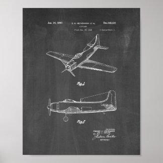 Diseño para una patente del aeroplano - pizarra impresiones