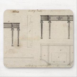 Diseño para una tabla de escritura pluma y tinta tapete de raton
