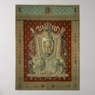 Diseño para una tapicería en el estudio de Bonapar Póster