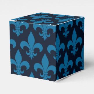 Diseño parisiense del modelo francés azul de la cajas para detalles de boda